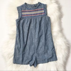 917bde19759 GAP Bottoms - NWOT BabyGap Chambray Embroidered Romper